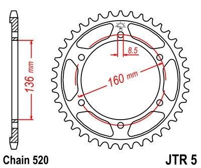 JT Sprockets Rozeta JTR 5.43