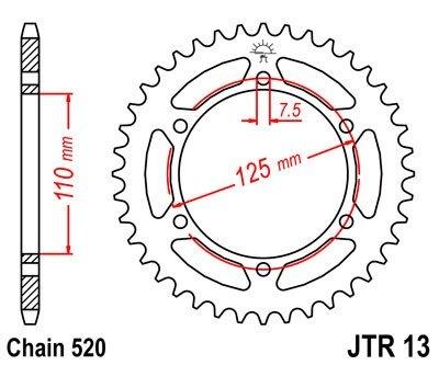 JT Sprockets Rozeta JTR 13.38