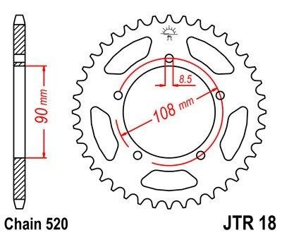 JT Sprockets Rozeta JTR 18.43
