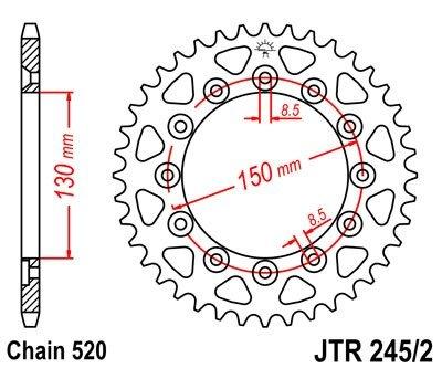 JT Sprockets Rozeta JTR 245/2.47