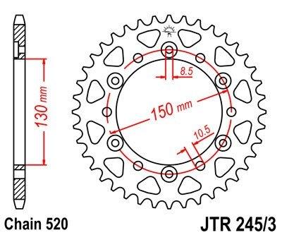 JT Sprockets Rozeta JTR 245/3.47