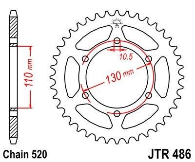 JT Sprockets Rozeta JTR 486.47