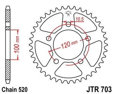 JT Sprockets Rozeta JTR 703.47