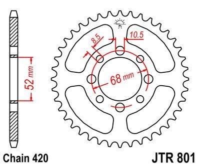 JT Sprockets Rozeta JTR 801.47