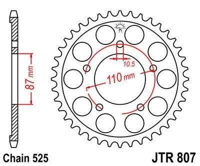 JT Sprockets Rozeta JTR 807.47