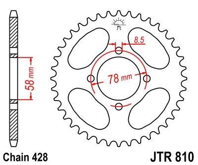 JT Sprockets Rozeta JTR 810.47