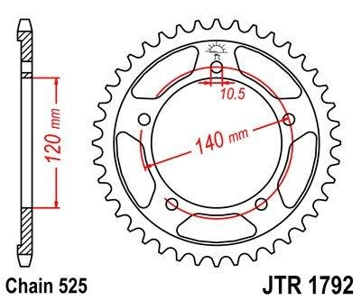 JT Sprockets Rozeta JTR 1792.47