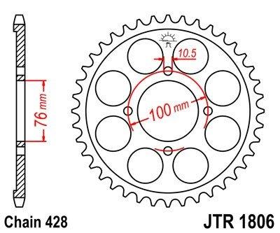 JT Sprockets Rozeta JTR 1806.47