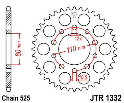 JT Sprockets Rozeta JTR 1332.47