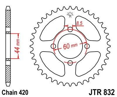 JT Sprockets Rozeta JTR 832.47