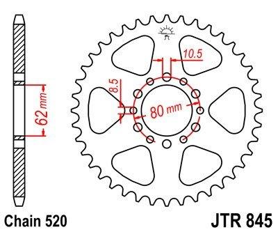 JT Sprockets Rozeta JTR 845.47