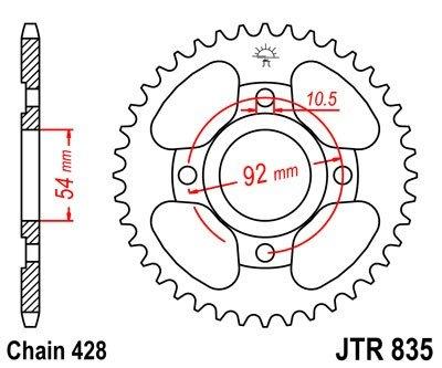 JT Sprockets Rozeta JTR 835.47