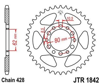 JT Sprockets Rozeta JTR 1842.47