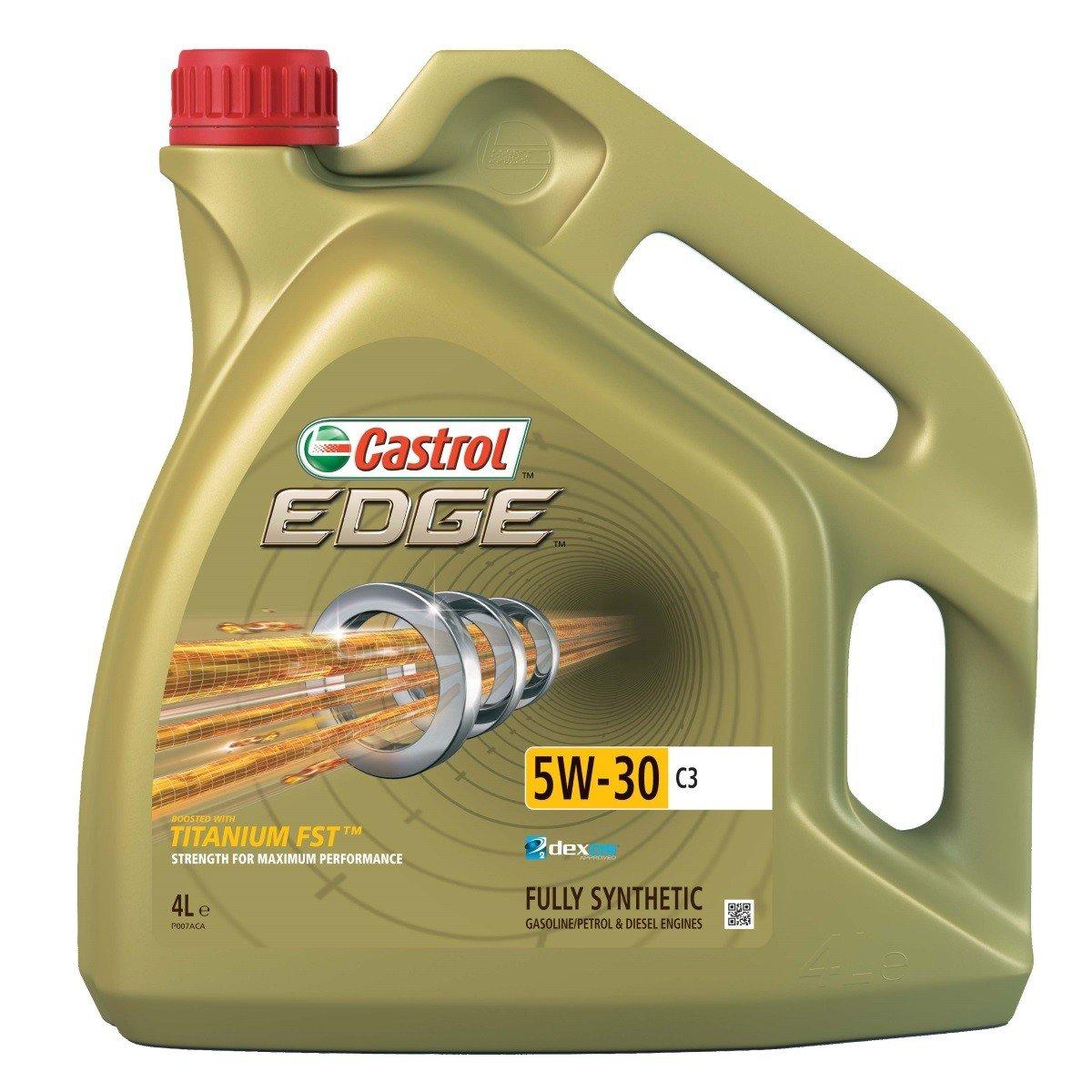 Plně syntetický motorový olej CASTROL Edge 5W30 C3 Titanium FST 4L