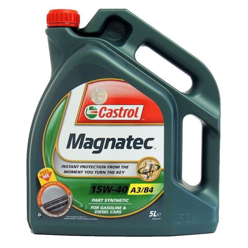 Polosyntetický motorový olej CASTROL Magnatec 15W40 A3/B4 5L