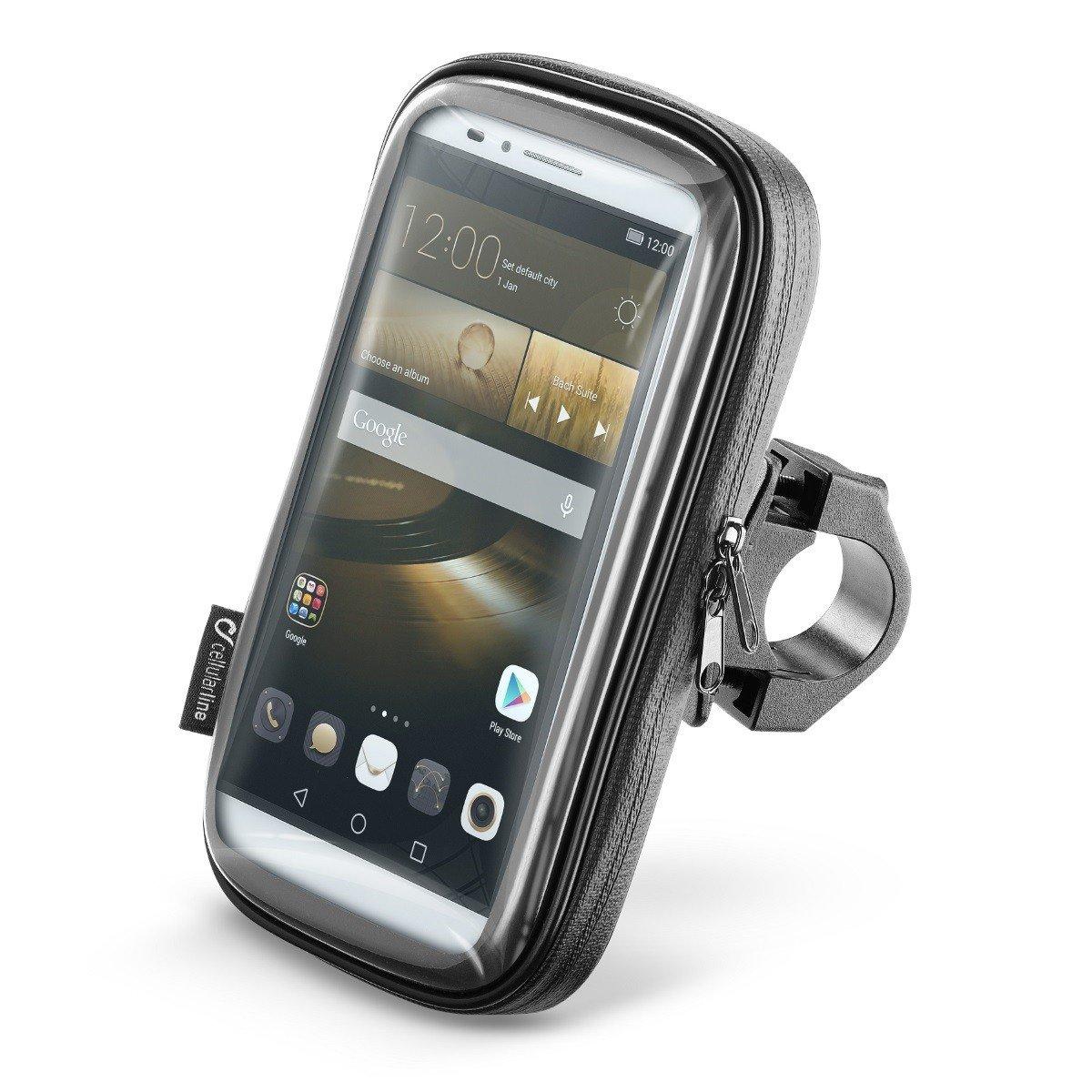 """Voděodolné pouzdro Interphone SMART pro telefony do velikosti 6,0"""" + úchyt na řídítka (černé) univerzální"""