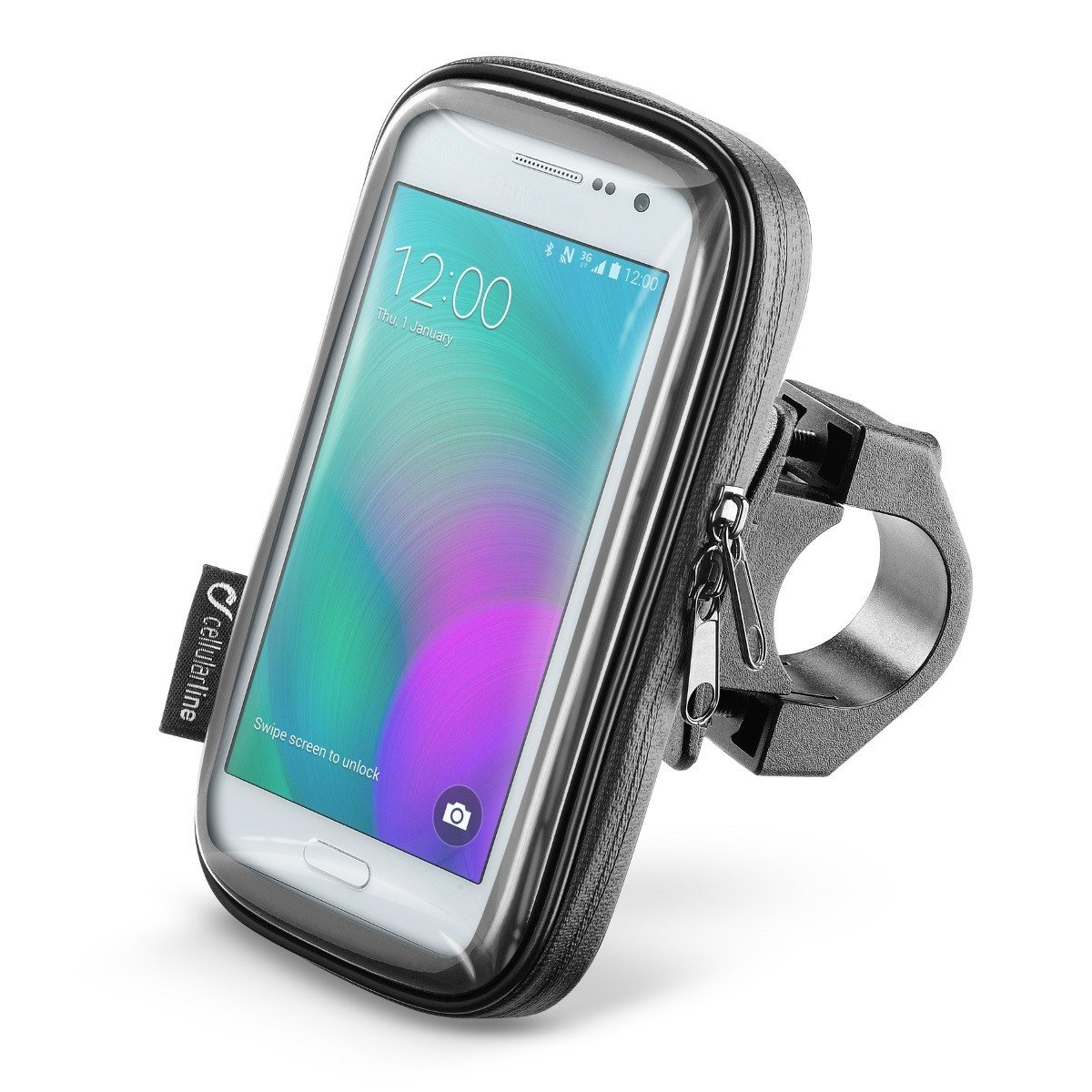 """Voděodolné pouzdro Interphone SMART pro telefony do velikosti 4.5"""" + úchyt na řídítka (černé) univerzální"""