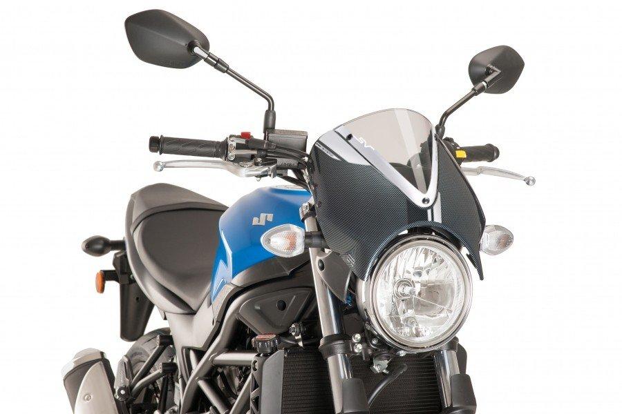 Puig 8927 Retro Windshield (Carbon Fairing) Suzuki SV 650 (16-17) Čirá (W)