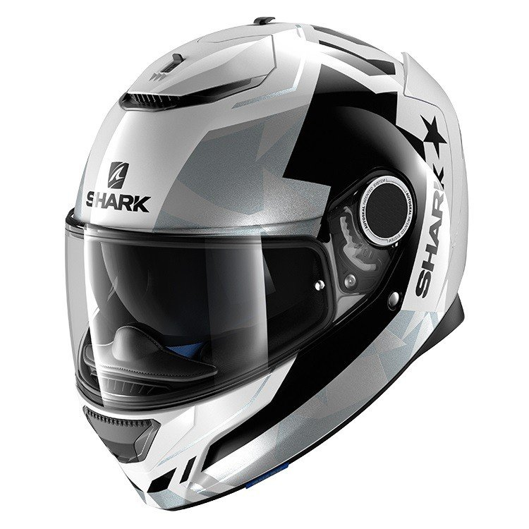 Shark Spartan Droze White/Black/Silver XL (61/62)