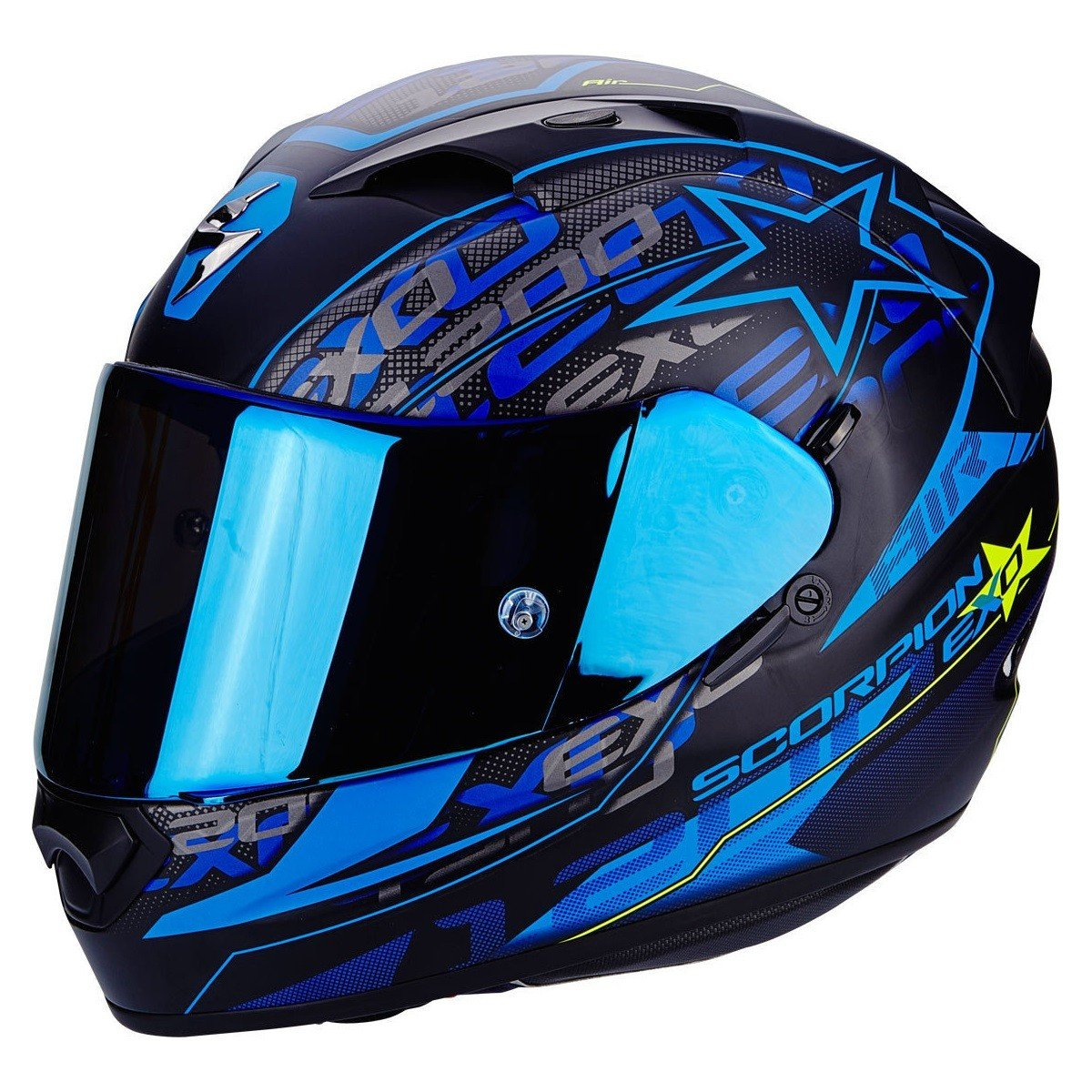 Scorpion EXO-1200 AIR SOLIS Matt Black/Blue XS (53/54)