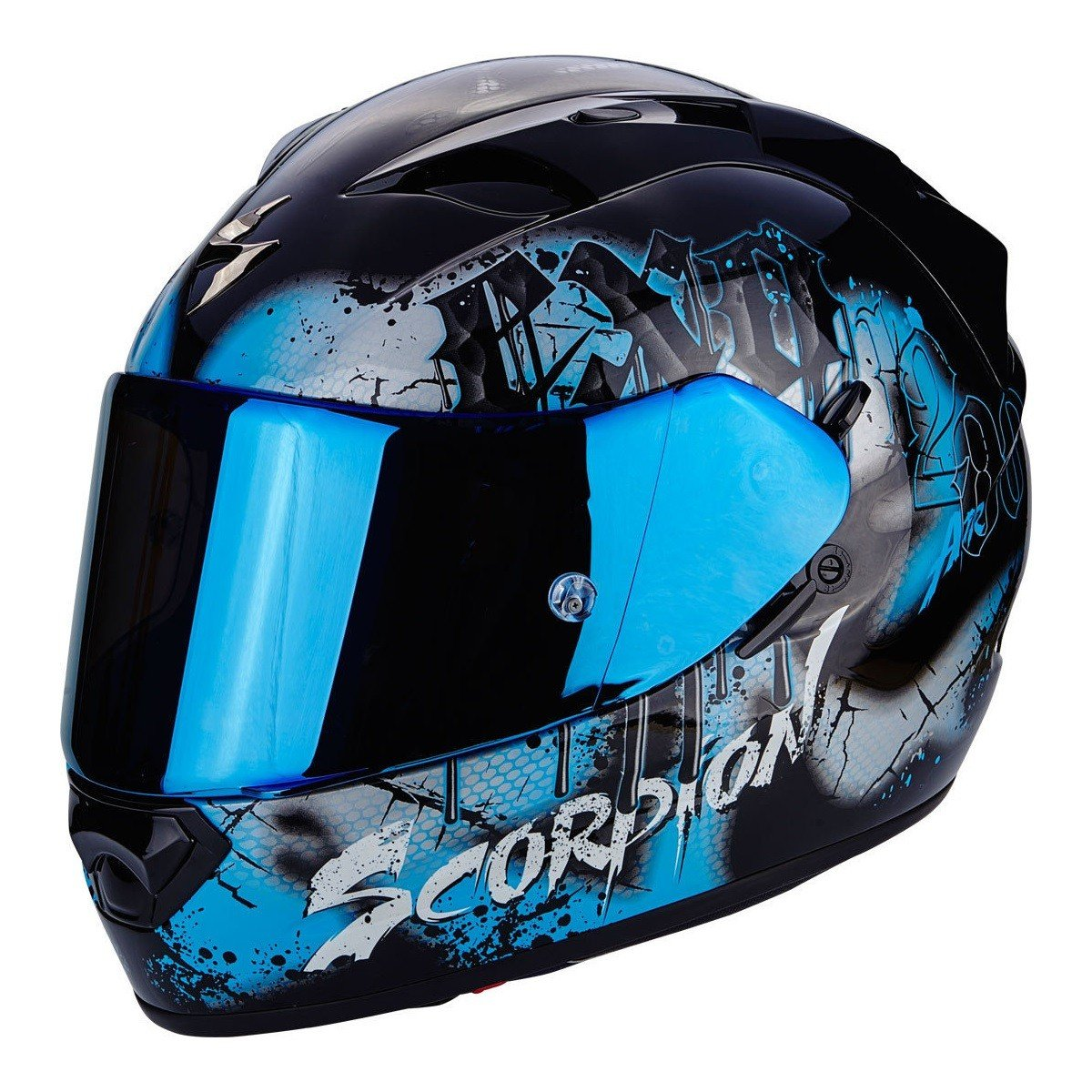 Scorpion EXO-1200 AIR Tenebris Black/Sky Blue XS (53/54)