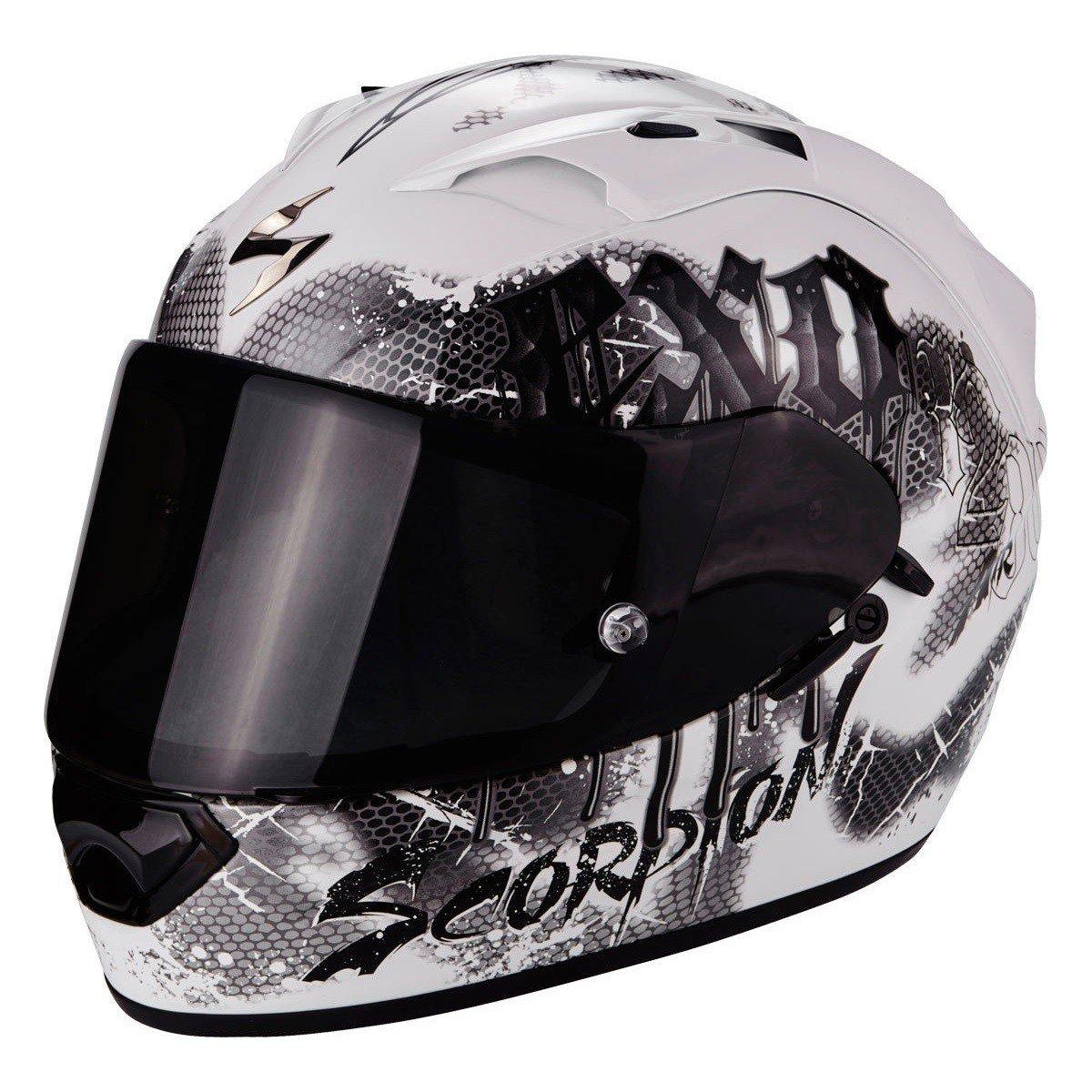 Scorpion EXO-1200 AIR Tenebris Pearl White/Silver XS (53/54)
