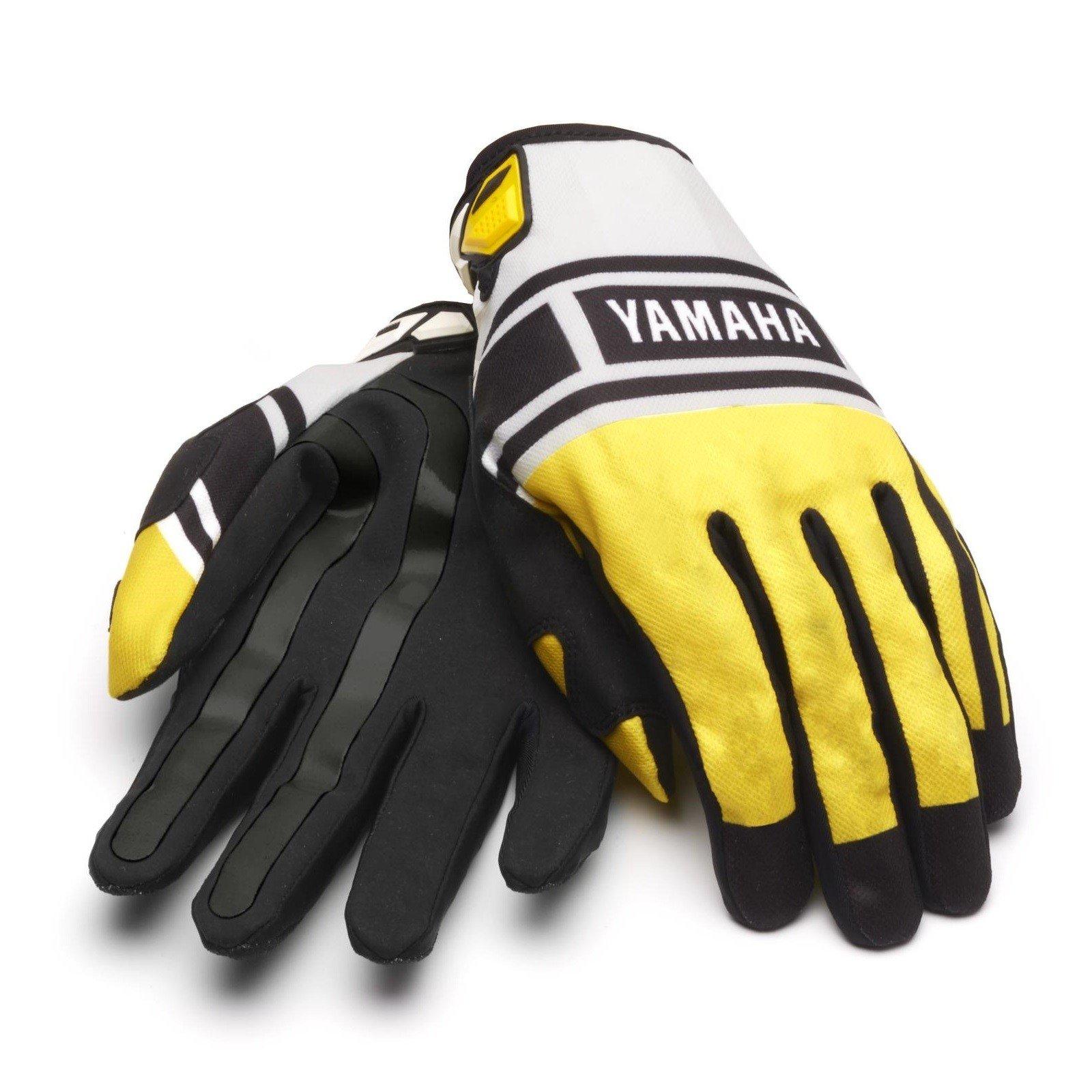 Pánské motokrosové rukavice Yamaha 60th Anniversary 2015 (žluté) S
