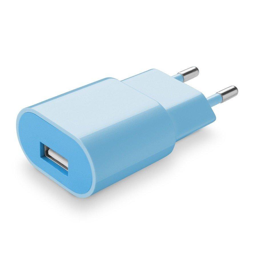 Cellularline Cestovní nabíječka Style&Color modrá 230V/USB 1A