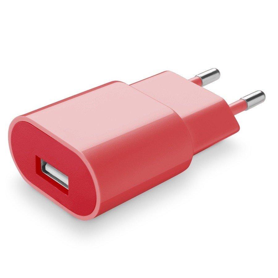 Cellularline Cestovní nabíječka Style&Color růžová 230V/USB 1A