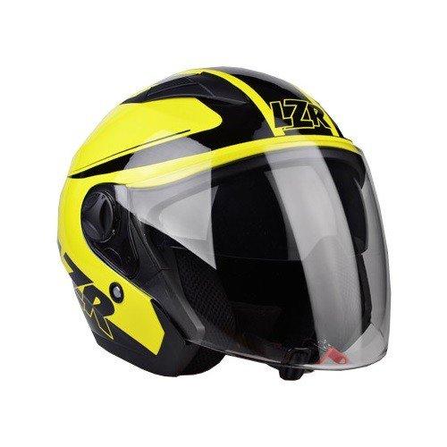 Otevřená přilba s celoobličejovým štítem LAZER JH1 Safety (černo/neonově žlutá) XS (53/54)