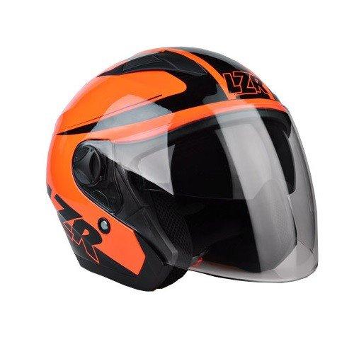 Otevřená přilba s celoobličejovým štítem LAZER JH1 Safety (černo/neonově červená) XS (53/54)