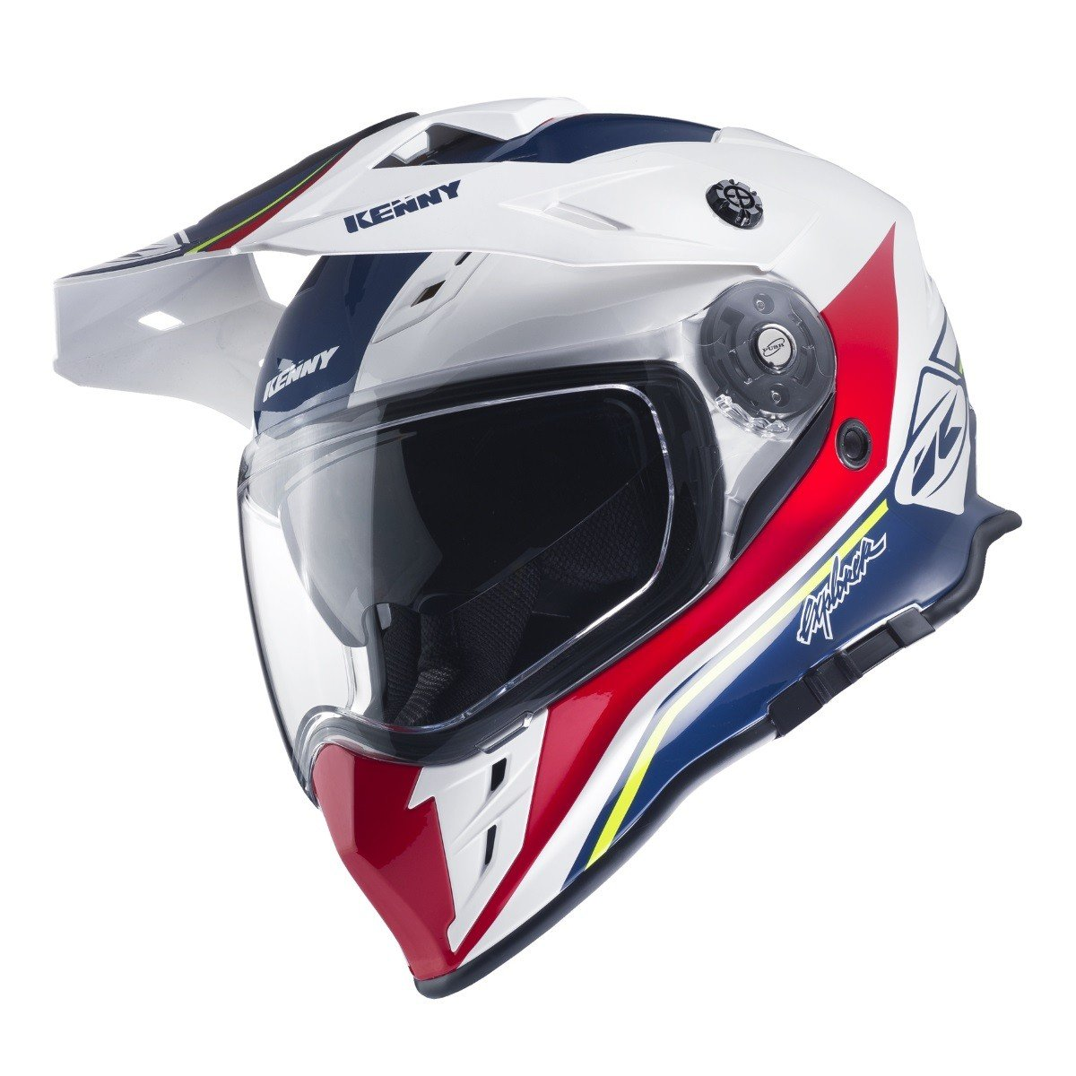 Motocyklová enduro přilba KENNY Explorer 17 (modrá/bílá/červená) XS (53/54)