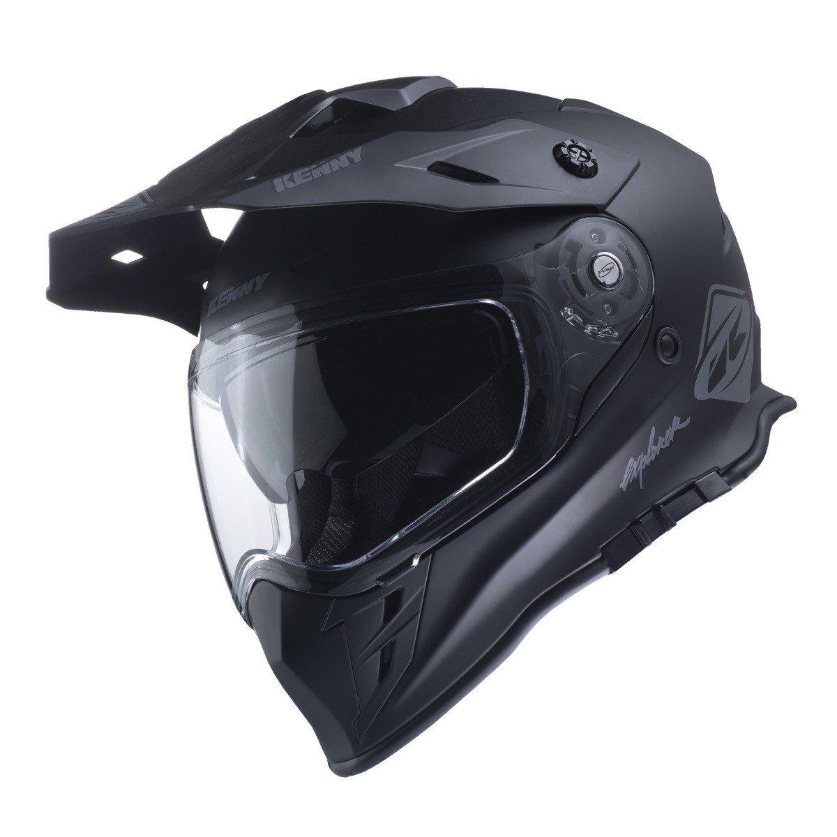 Motocyklová enduro přilba KENNY Explorer 17 (matně černá) XS (53/54)