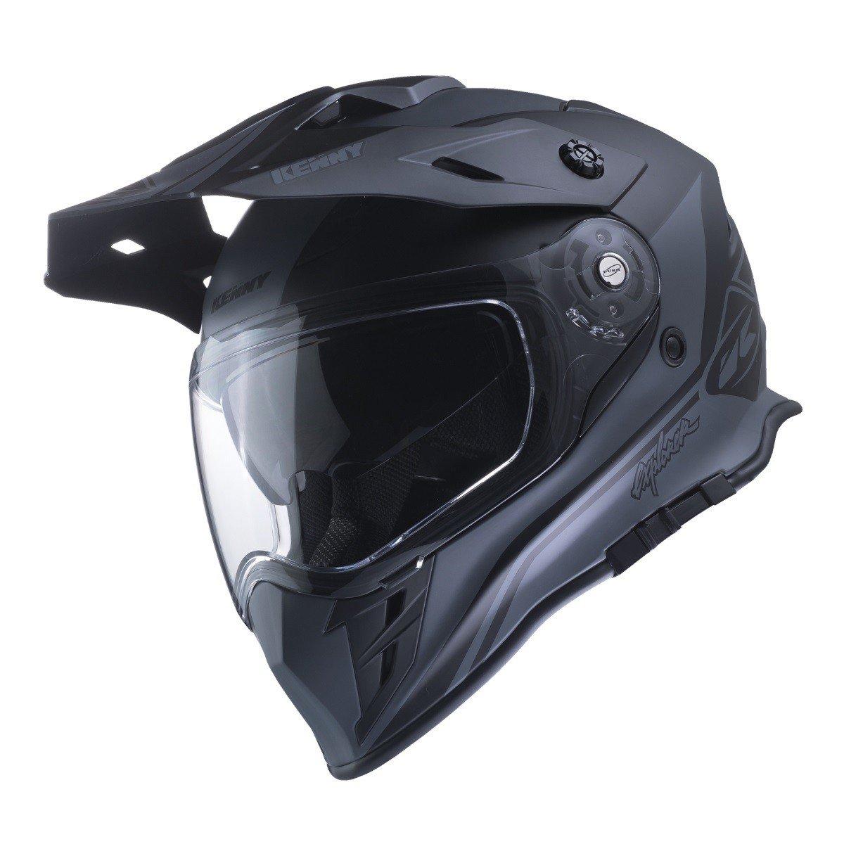 Motocyklová enduro přilba KENNY Explorer 17 (šedá/černá) XS (53/54)