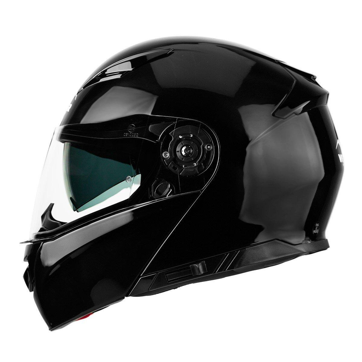 Výklopná motocyklová přilba VEMAR Nashi (černá) XXL (63/64)