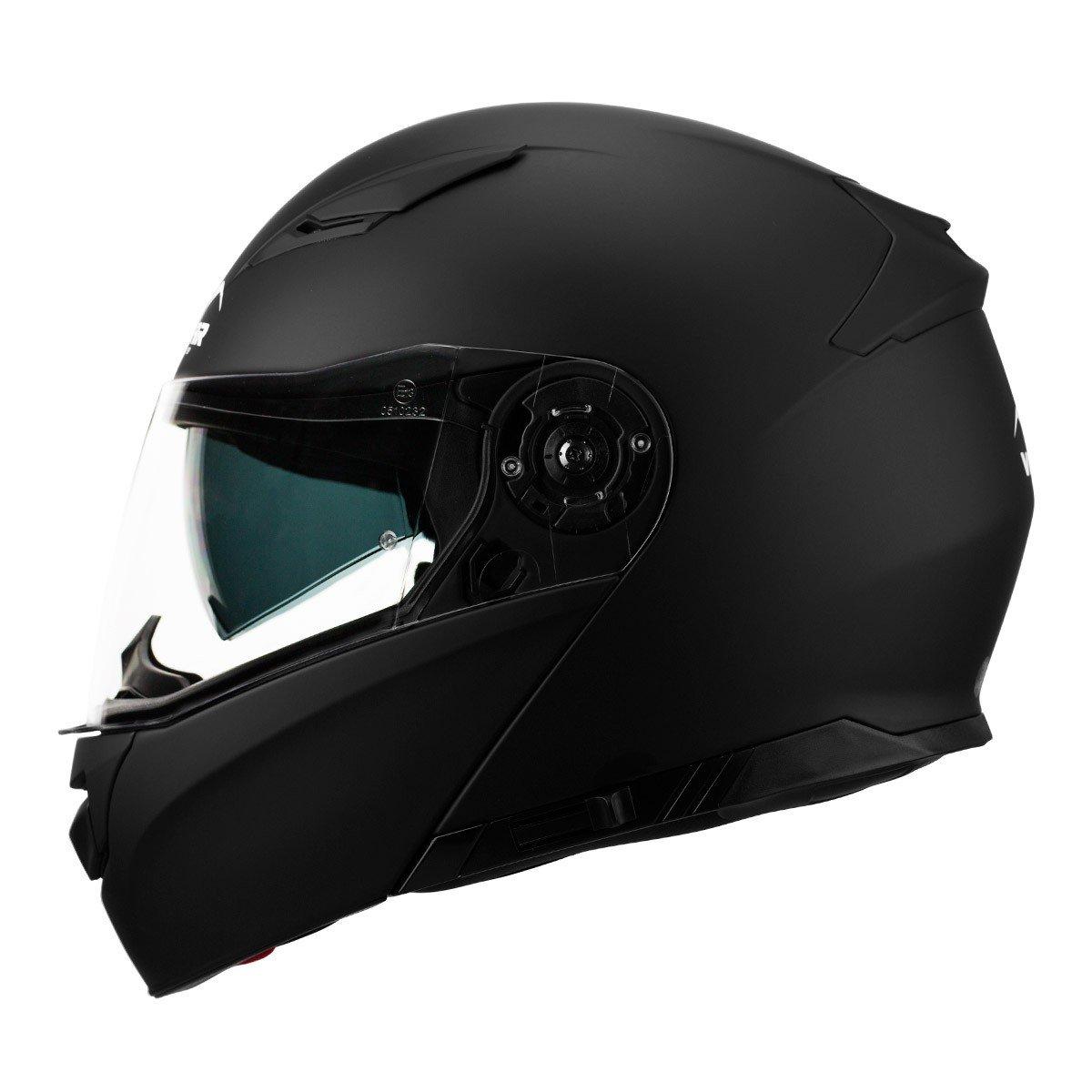Výklopná motocyklová přilba VEMAR Nashi (matně černá) XXL (63/64)