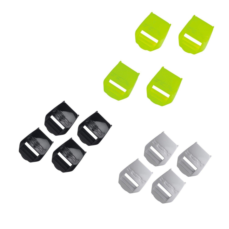 Plastové zásuvky TCX na pásek bot PRO 2.1/PRO 1.1/X-Mud/PRO 2/COMP 2/FCS Černá