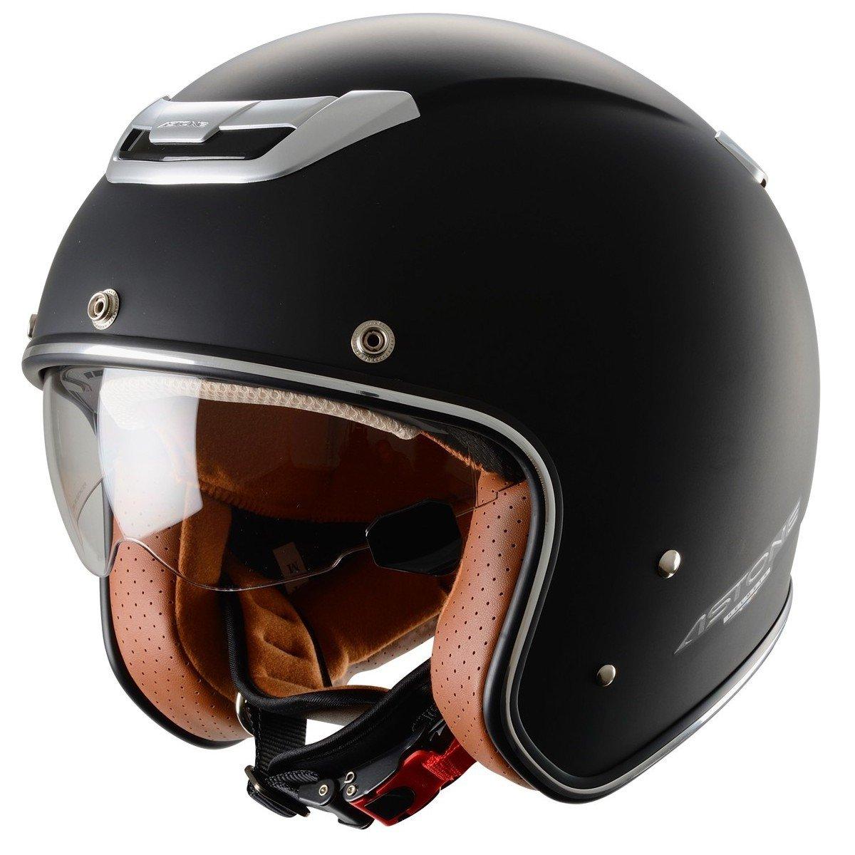 Motocyklová otevřená přilba ASTONE Sporster Solid (matně černá), vel. XL