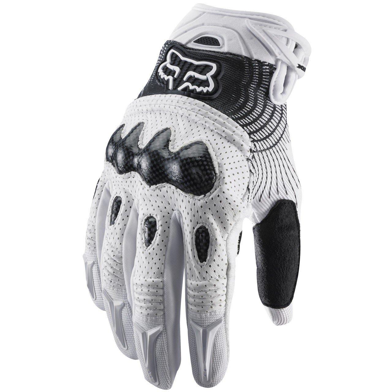 Pánské MX rukavice FOX Bomber (bílo/černé), vel. M univerzální
