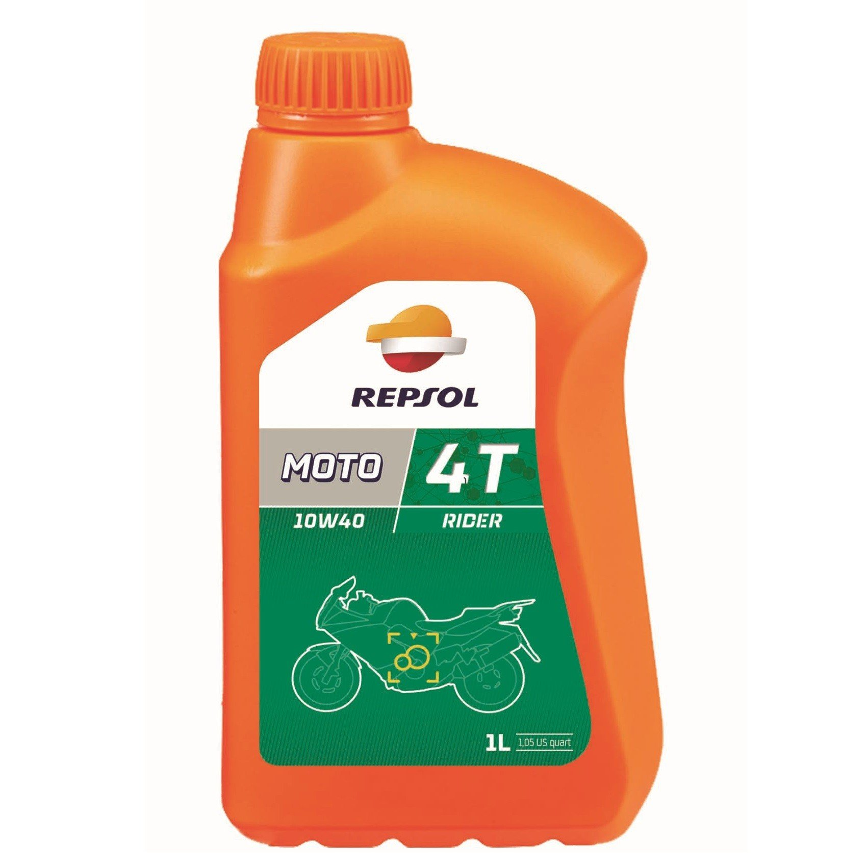 Minerální motorový olej REPSOL Moto Rider 4T 10W40, 1L