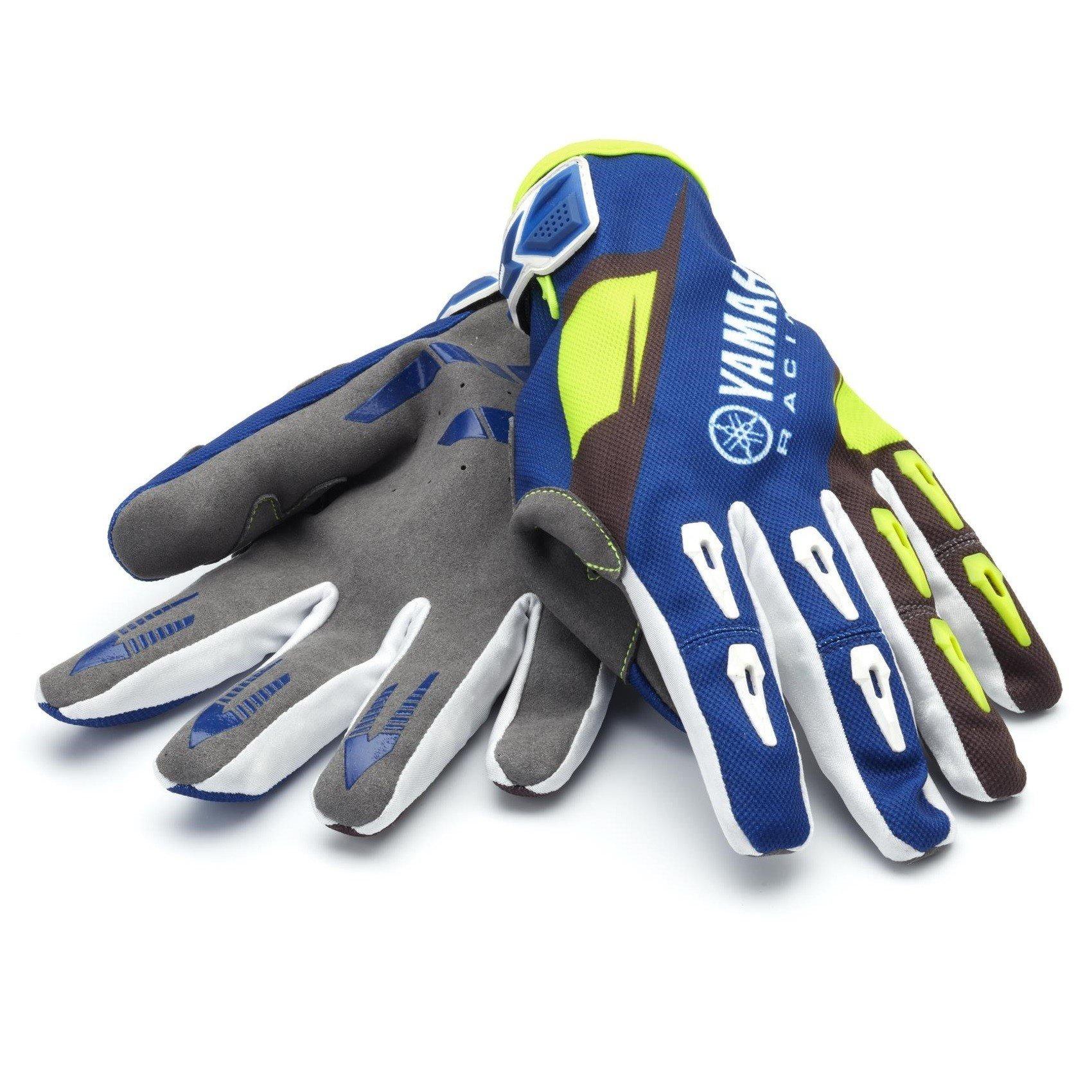 Pánské motokrosové rukavice YAMAHA Foxhill (modro/zelené) S