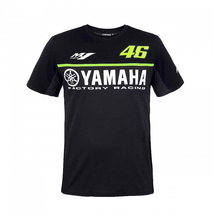 Vr46 Pánské triko Yamaha Black Edition M