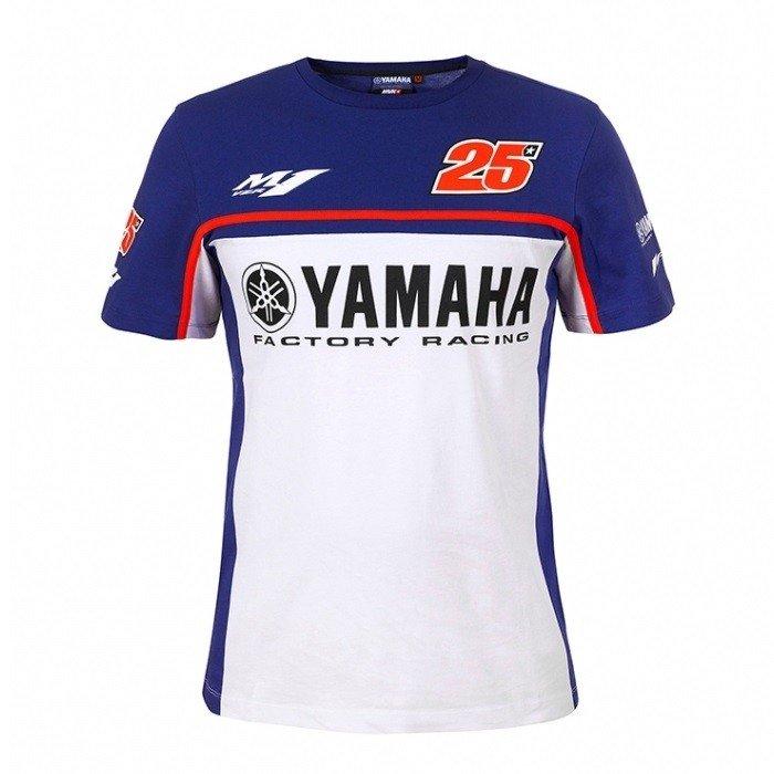Pánské tričko YAMAHA Maverick Vinales 2017 (modro/bílé) S
