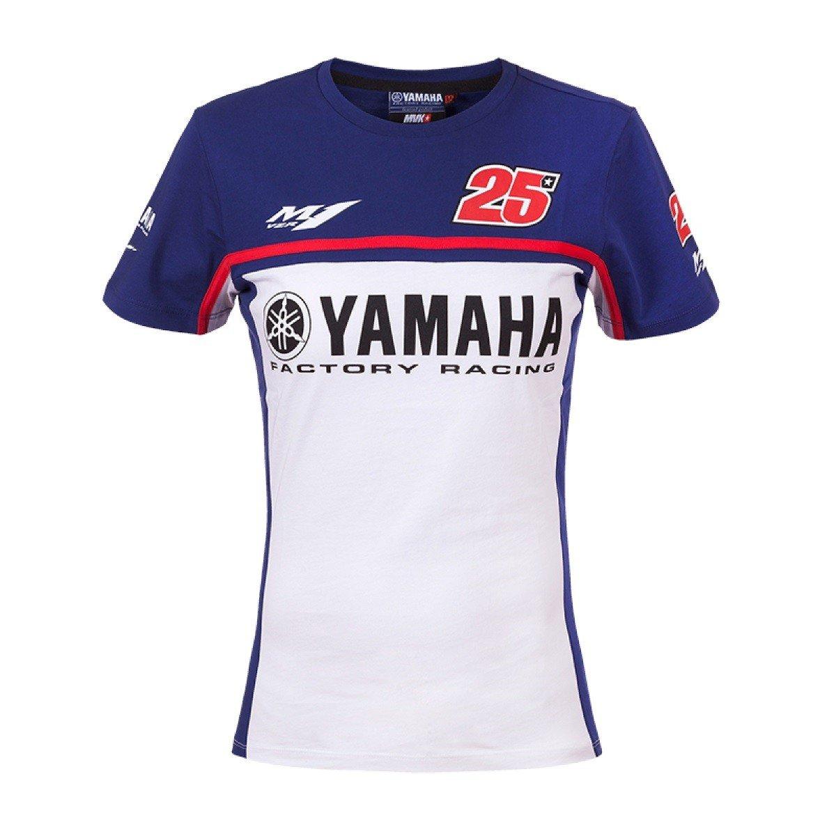 Dámské tričko YAMAHA Maverick Vinales 2017 (modro/bílé) XS
