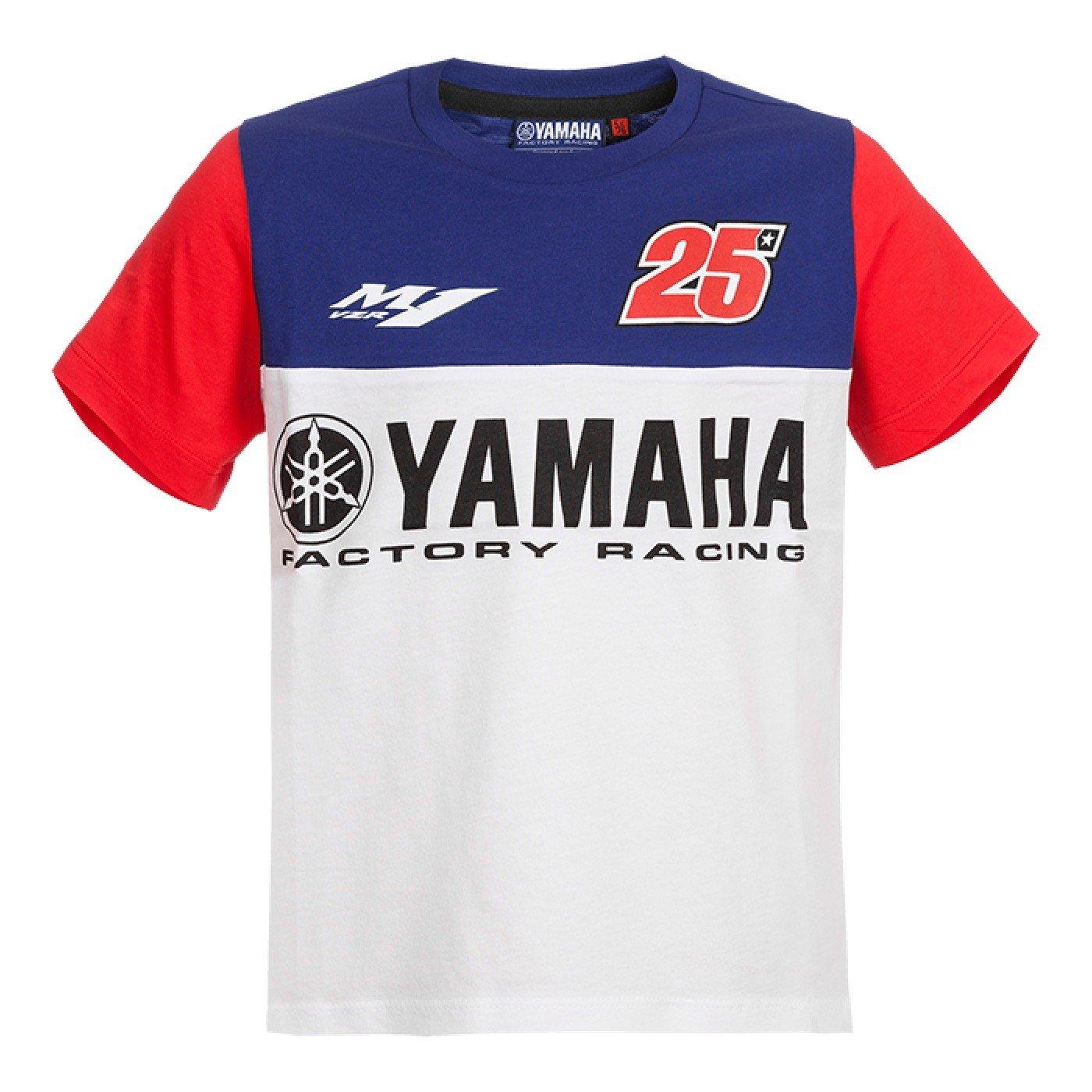 Dětské tričko s krátkým rukávem YAMAHA Maverick Vinales 2017 (modré) 1-2 roky