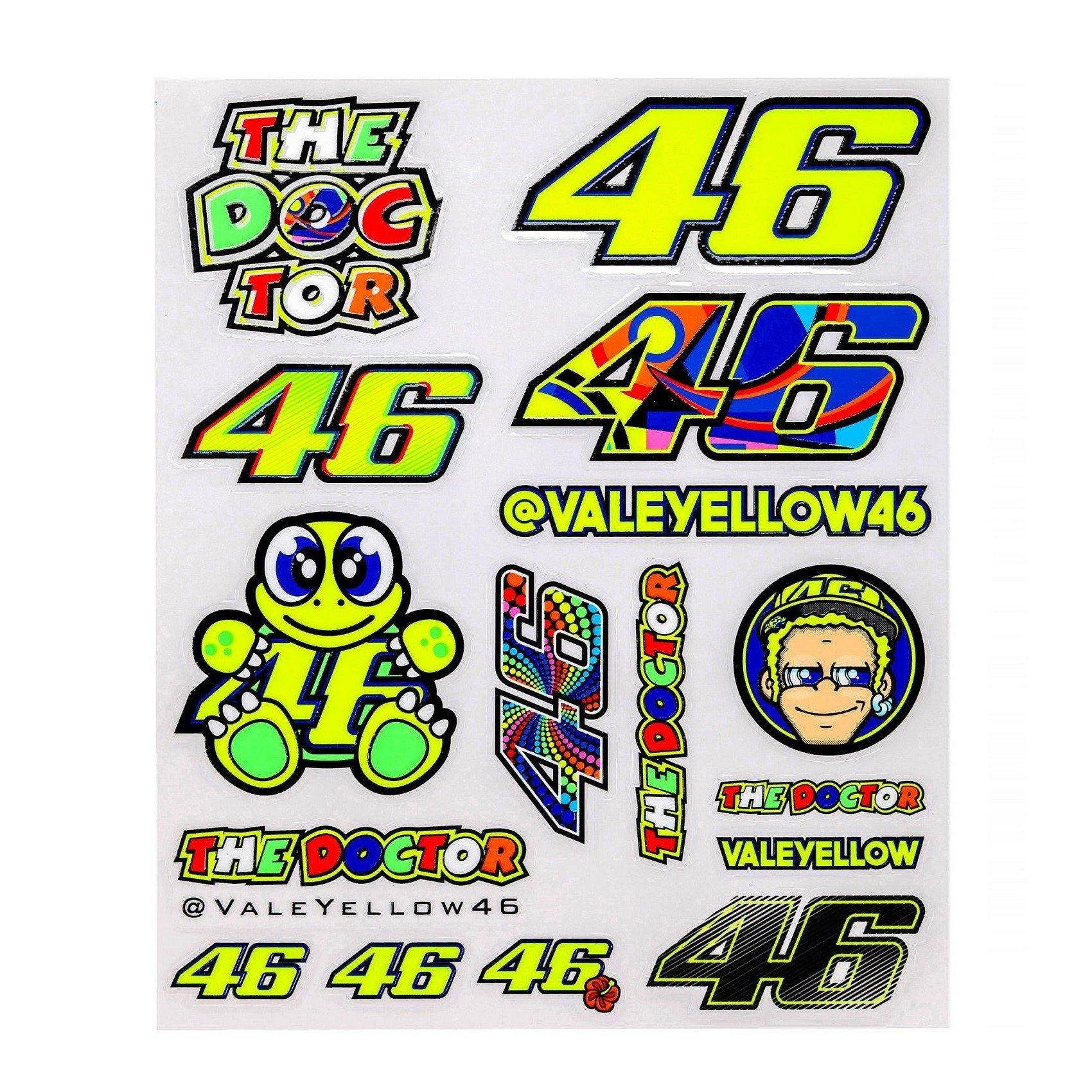 Velké samolepky VR46 Valentino Rossi 2017