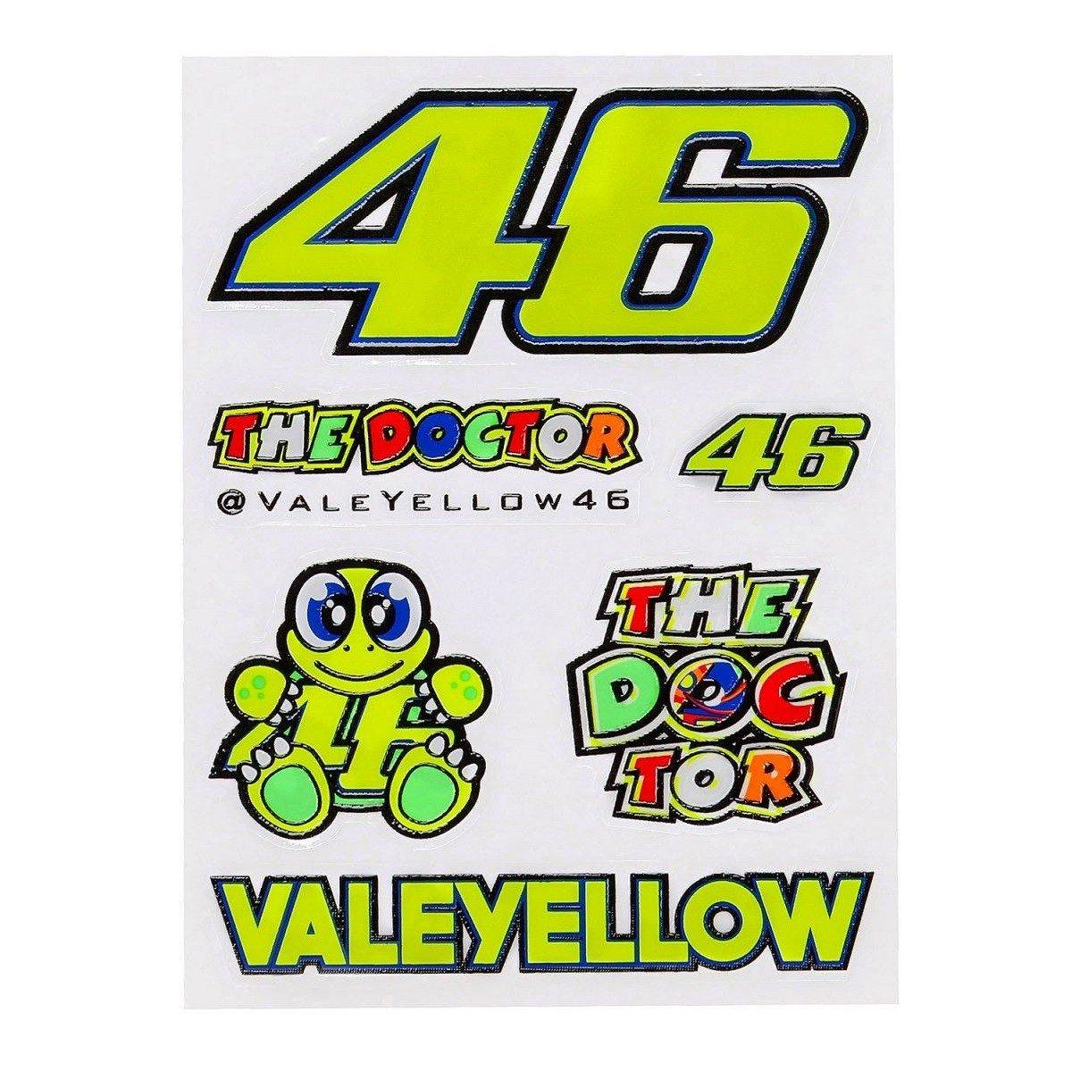 Vr46 Samolepky malé 46 Valentino Rossi