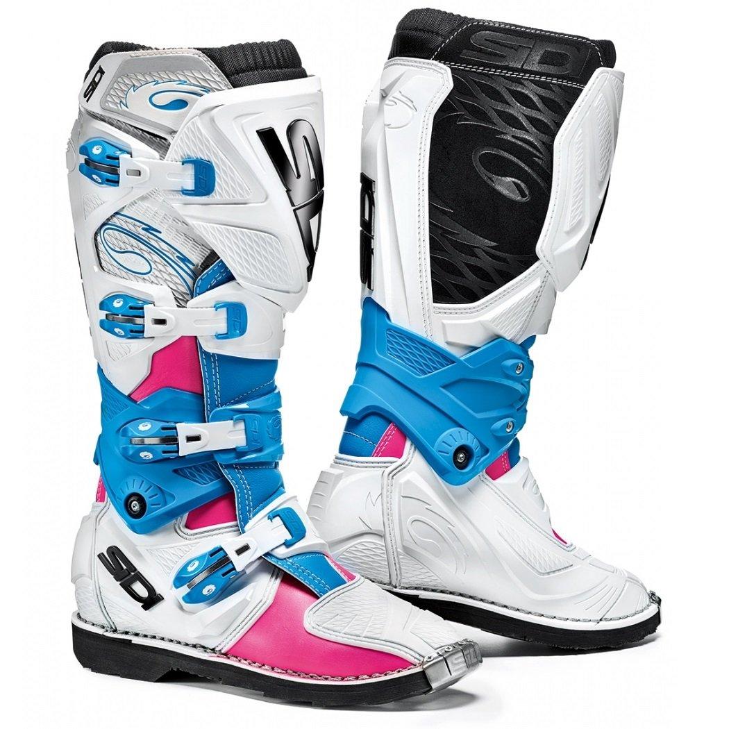 Dámské motokrosové boty SIDI X3 Lei (růžová/bílá/světle modrá) 42