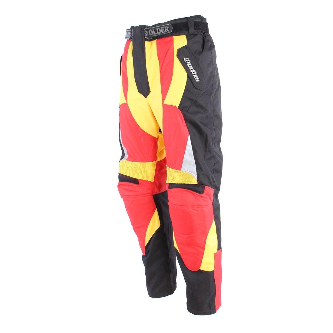 Motocyklové kalhoty BOLDER Enduro 2065 (černo/červené) 3XL