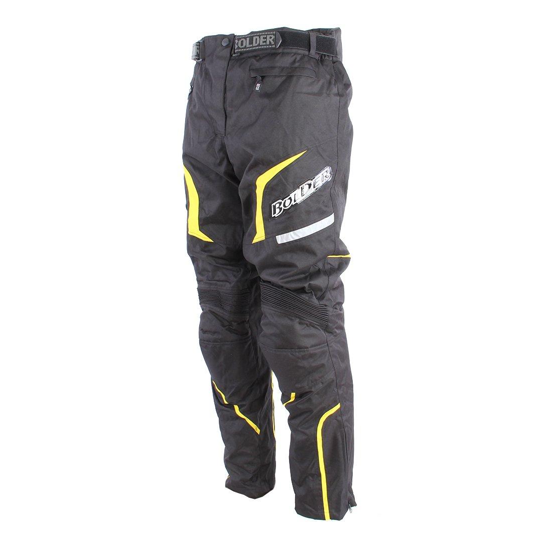 Pánské textilní kalhoty BOLDER Enduro 550 (černo/žluté) S